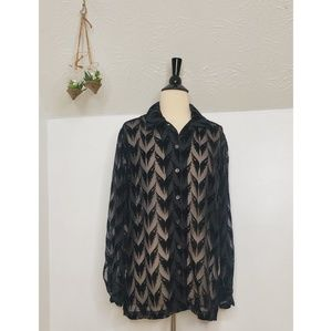 Harley-Davidson Sheer Long Sleeve Blouse